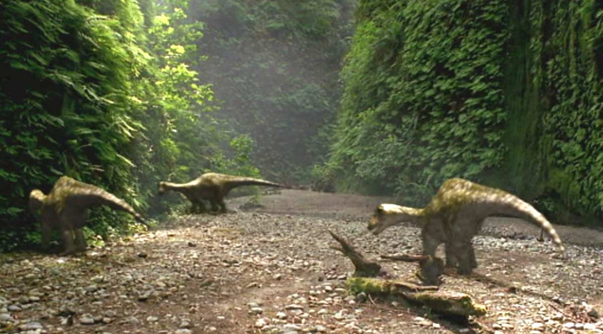 Fern Canyon is a Dinosaurs Paradise